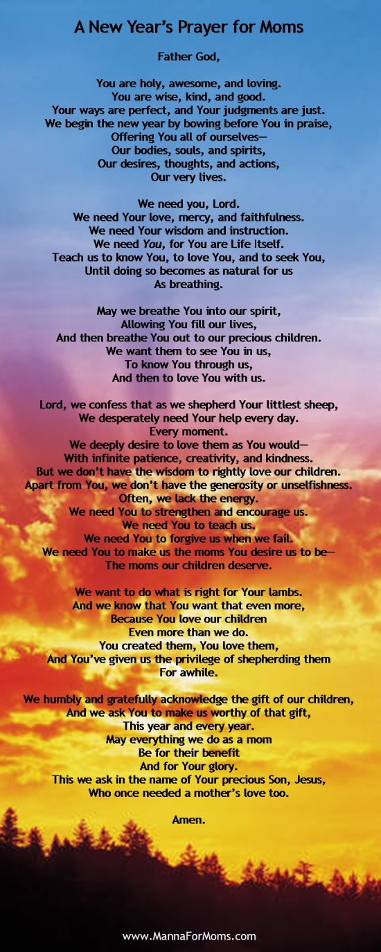 New Year's Prayer for Moms