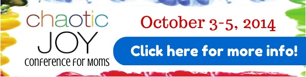 Banner Ad for Chaotic Joy Conference